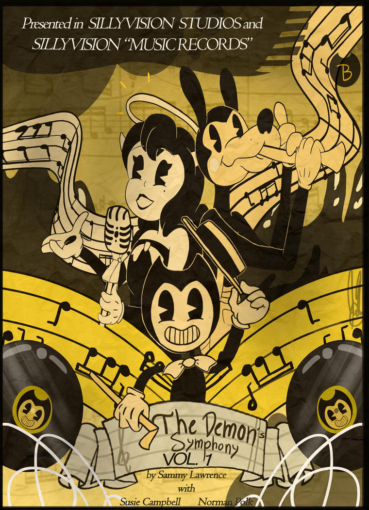 Bendy vynil disc cover by ivy6323
