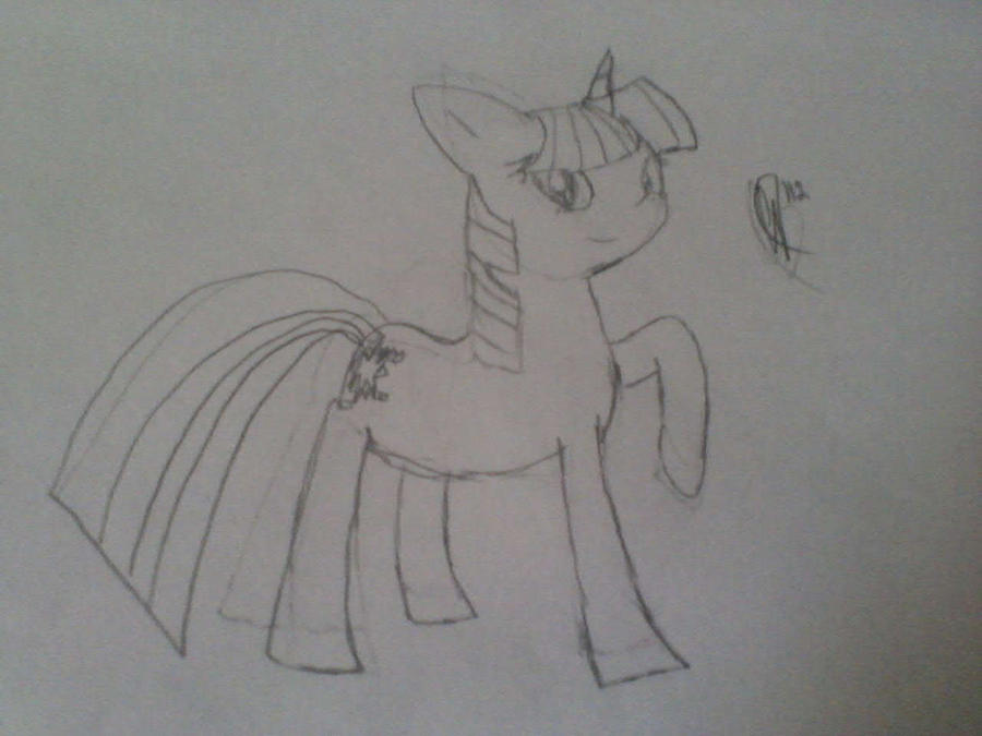 Some people are too lazy to check my DA Twilight_sparkle_rough_sketch_by_sonosony-d4xr6wu