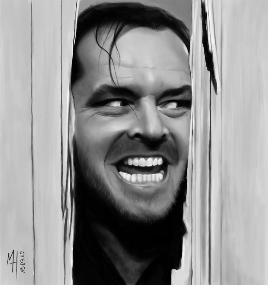 ... movies tv jack nicholson shining 3 digital painting with wacom