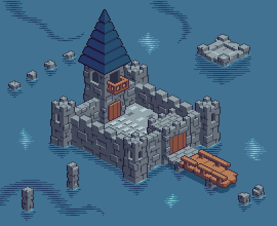 Castle In The Lake by HuntersAndPrey