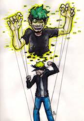 Inktober Day 12: Puppeter by Rhay-Robotnik