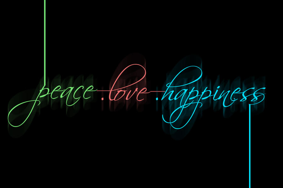 Peace love and happiness backgrounds