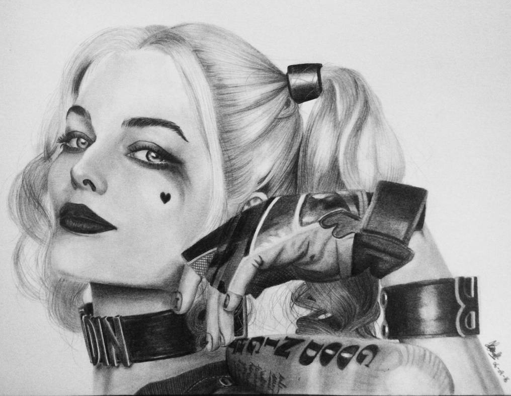 Harley quinn pencil drawing by haniarizsanny on deviantart