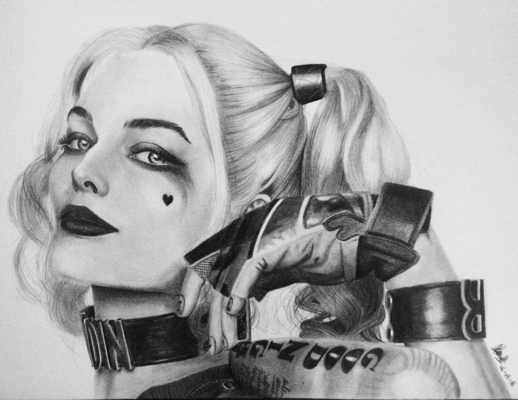 Harley Quinn Drawing: Harley Quinn Pencil Drawing By Haniarizsanny On DeviantArt