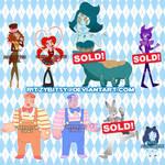 Alice in Wonderland Gem Adopts! [5/8 OPEN] by RitzyBitsy
