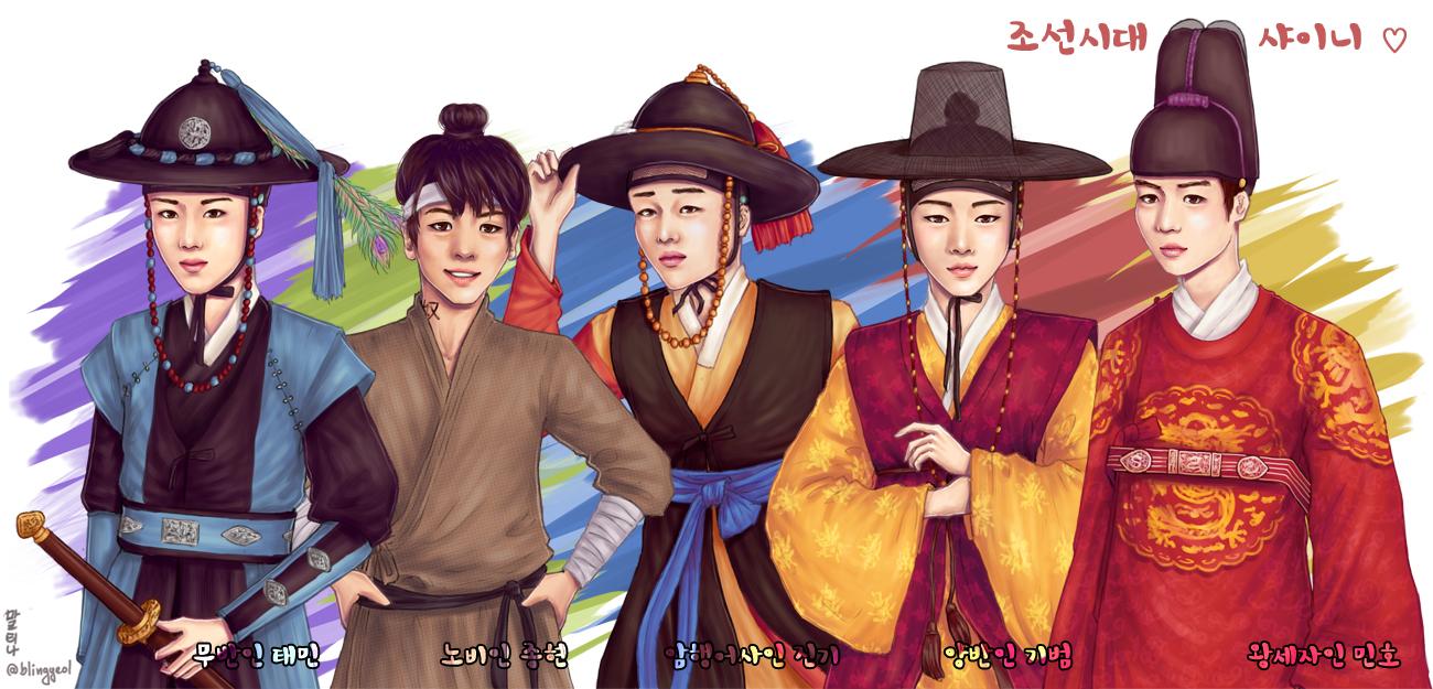 SHINee in Joseon Dynasty by IrethSingollo