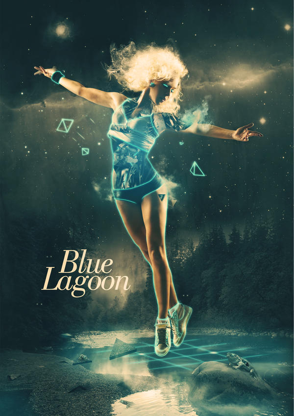 blue lagoon by karmagraphics d2y35z8 Digital Art Inspiration: Abstract Photoshop Manipulation Girls