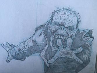 Zombie sketch  by Eglflyfree