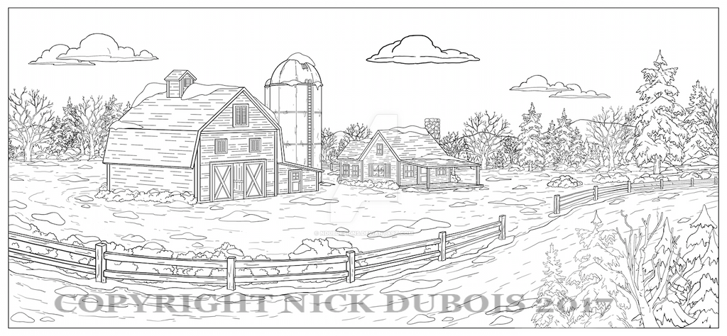 AD Barn Road Copyright Nick DuBois 2017 by NDuBdesigns