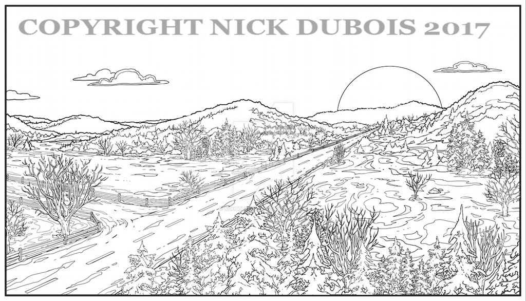 AD Horizon Snowy Road Copyright Nick DuBois 2017 by NDuBdesigns