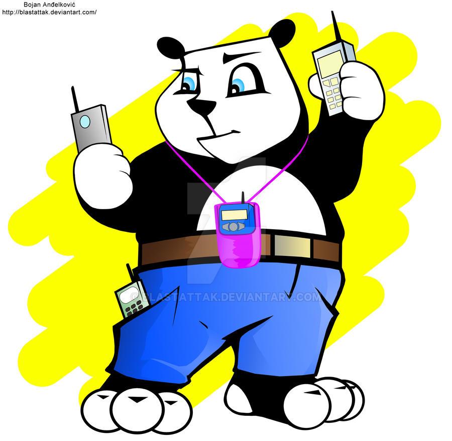 Mobi Panda Logo by BlastAttak