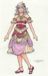 Princess Dress for Kui by SarahsPlushNStuff