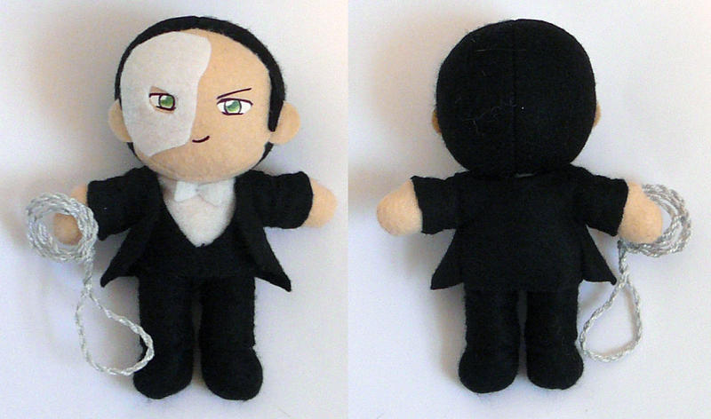 Phantom of the Opera Plushie by sakkysa