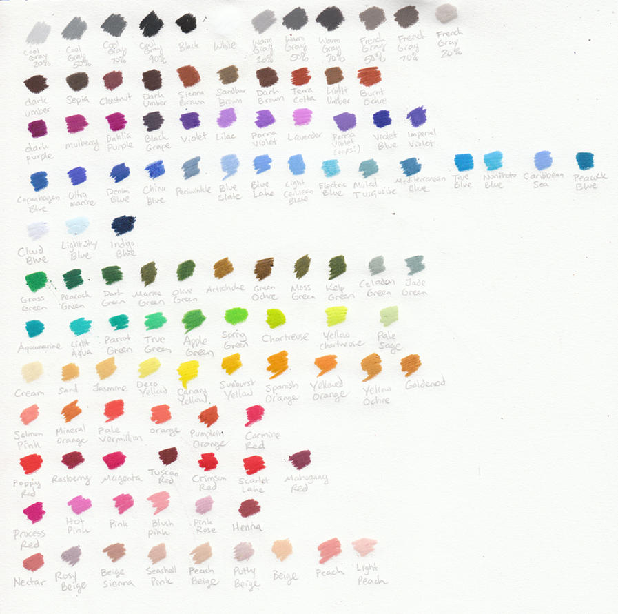 Prismacolor 150 premier colored pencil chart by transientart on prismacolor pencil chart by sarahsplushnstuff nvjuhfo Image collections