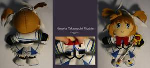 Nanoha Takamachi Plushie by SarahsPlushNStuff