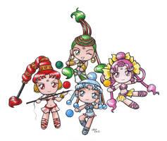 Sailormoon SuperS Chibi AQ by SarahsPlushNStuff