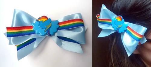 Rainbow Dash Hair Clip - for Otakon