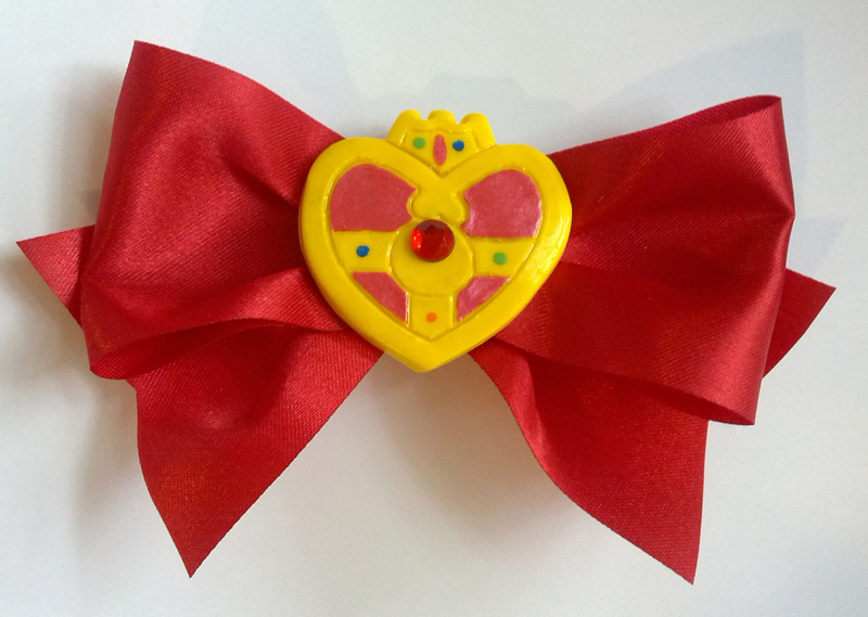Sailor Moon Cosmic Compact Hair Clip by sakkysa