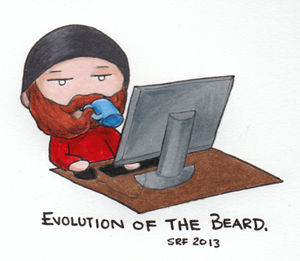 Evolution of the Beard by SarahsPlushNStuff