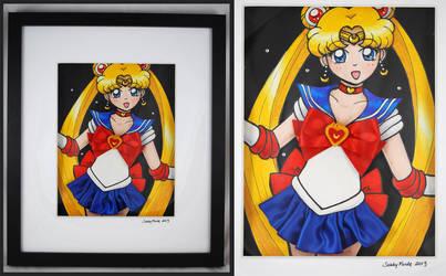 Sailor Moon - Mixed Media Experiment by SarahsPlushNStuff
