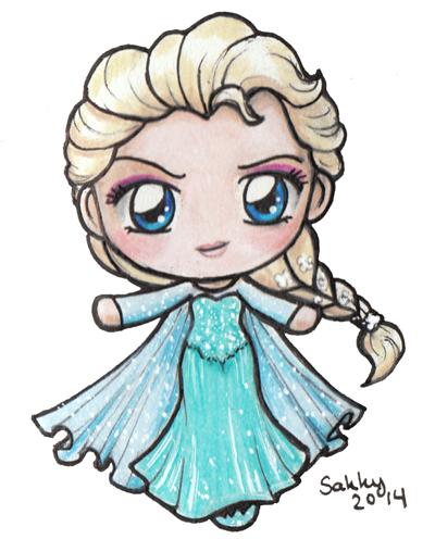 Elsa Chibi by sakkysa on DeviantArt