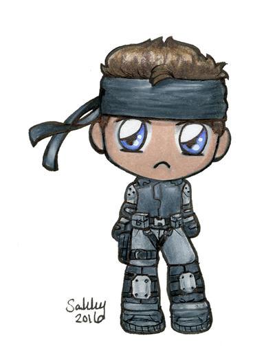 Solid Snake Chibi by sakkysa