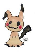 Mimikyu Chibi - Pokemon by SarahsPlushNStuff