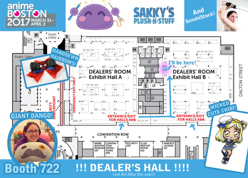 Sakky at anime boston 2017 dealer 39 s hall by sakkysa on for Craft fair boston 2017