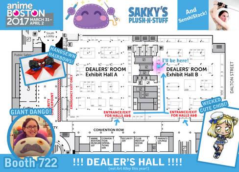 Sakky at Anime Boston 2017! DEALER'S HALL