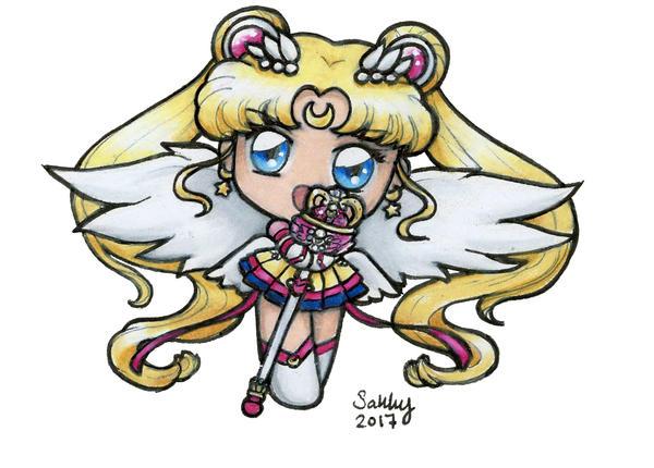 Eternal Sailor Moon Chibi ATTACK! by sakkysa