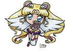 Eternal Sailor Moon Chibi ATTACK! by SarahsPlushNStuff