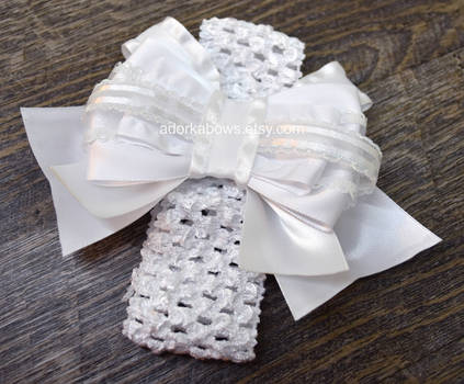 Baptism Christening Wedding Blessing Baby Bow