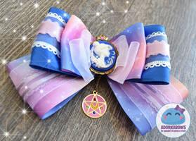 Sailor Moon Cameo Pastel Galaxy Print Hair Bow