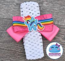 Rainbow Dash Baby Hair Bow