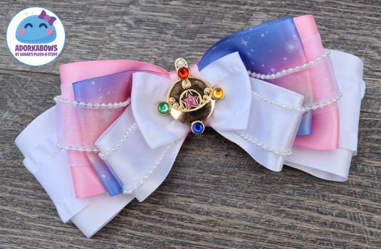 Sailor Moon Pastel Galaxy Print Hair Bow