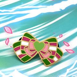 Sailor Jupiter Inspired Enamel Bow Pin