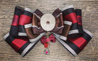 Sailor Pluto Inspired Hair Bow OOAK