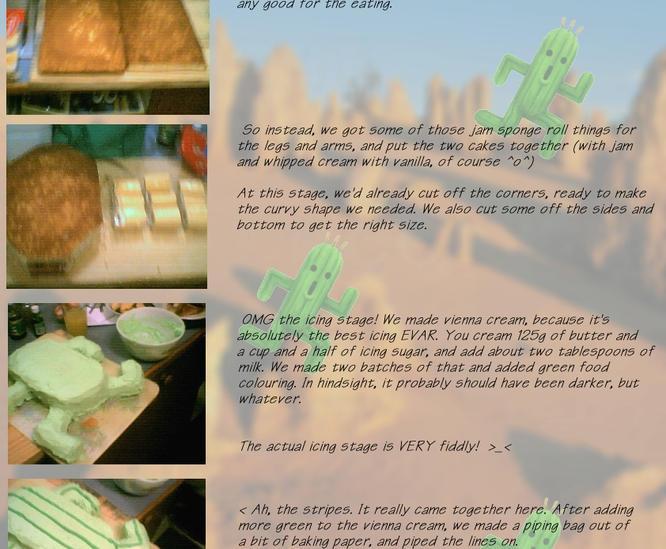 Cactaur Cake How To by JynxFreak