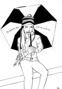 Miss Black and the Umbrella