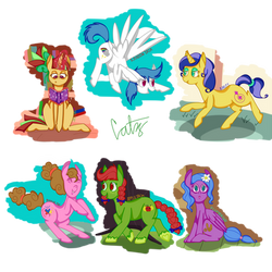 Mane 6 Redesigns by catz537