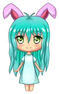 Gift: Mini Chibi Bunny by Lucina-Waterbell
