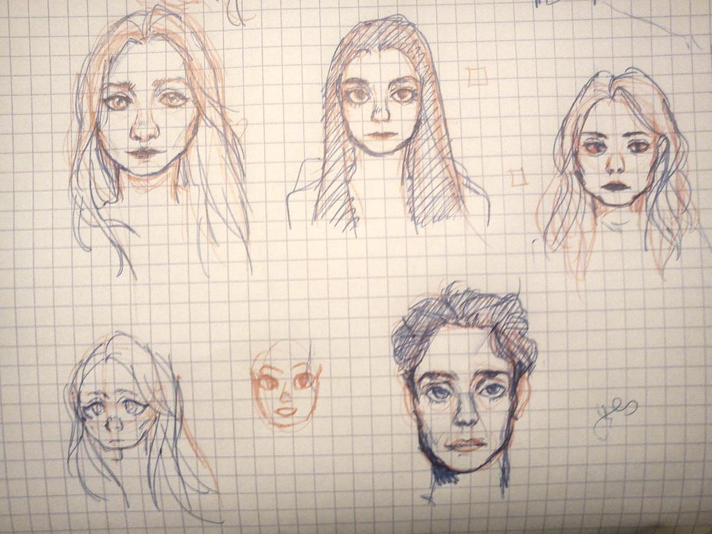 dunno i tried to doodle real ppl by KeYashu