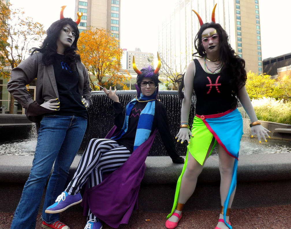 Homestuck: Eridan And His Ladies by BlackRoseMikage