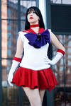 Sailor Mars: Soldier Draped in Red