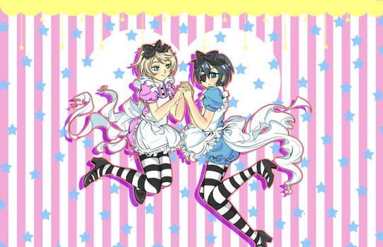 Kuroshitsuji- Ciel x Alois in Wonderland