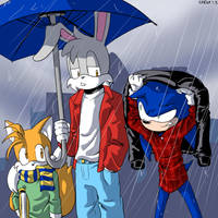 Caught in the rain by General-RADIX