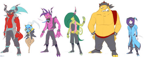 The Deadly Six before Lost Hex