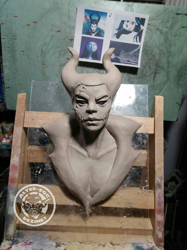 Maleficent finished sculpt by Alter-Ego-Dezines