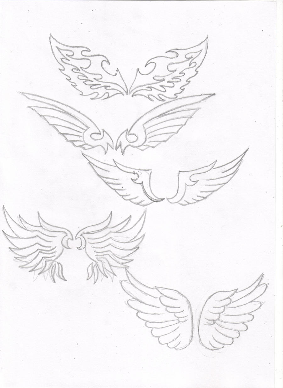 simple angel wings drawing 67389 zsource