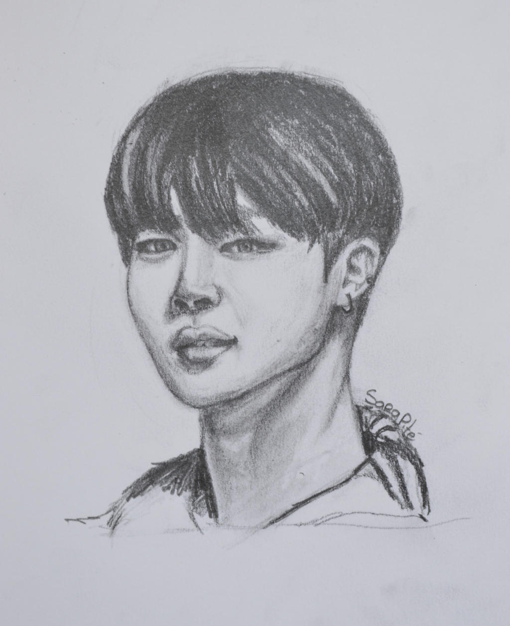 Park Jimin Drawing By Sarapite On DeviantArt